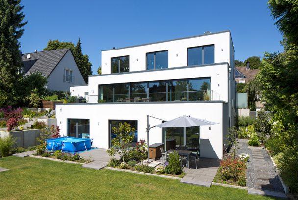 modernes einfamilienhaus im essener s den holle architekten. Black Bedroom Furniture Sets. Home Design Ideas